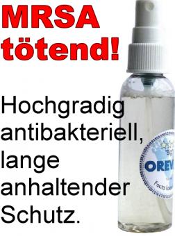 OREVAX Liquid *** 75ml Pumpflasche. Stoppt Fußgeruch, tötet Keime