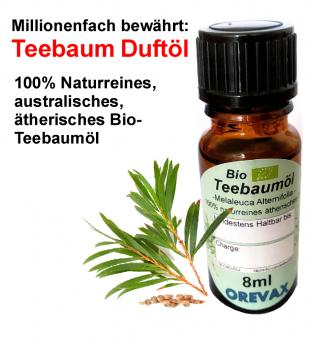 8ml naturreines ätherisches Teebaumöl (Bio)